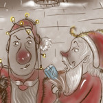 Christmas in Ballyyahoo. Image of santa-and-rudolph in BALLYYAHOO-