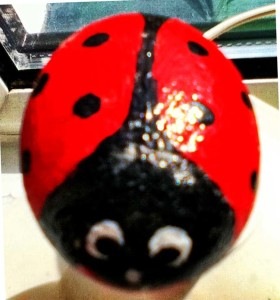 Ladybird stone
