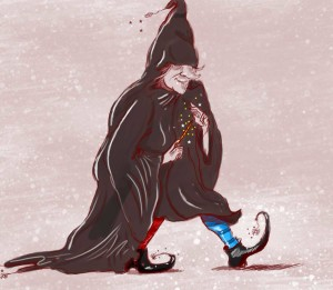 Cartoon of a witch
