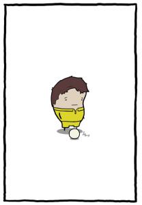 image of a sad little boy